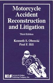Cover of: Motorcycle accident reconstruction and litigation