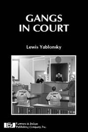 Cover of: Gangs In Court
