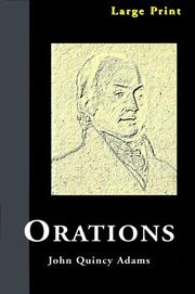 Cover of: Orations | John Quincy Adams