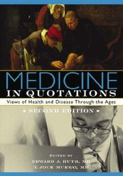 Cover of: Medicine in Quotations |