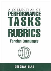 Cover of: A Collection of Performance Tasks and Rubrics: Foreign Languages