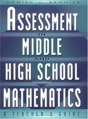 Cover of: Assessment in Middle and High School Mathematics