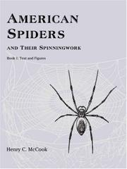 Cover of: American Spiders and their Spinningwork, Book 1