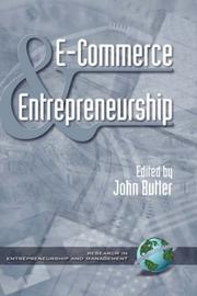 Cover of: E-Commerce and Entrepreneurship  (HC) (Research in Entrepreneurship and Management)