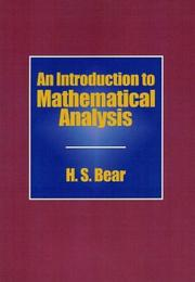 Cover of: An introduction to mathematical analysis