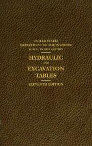 Cover of: Hydraulic and Excavations Tables, 11th Edition