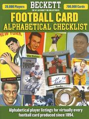 Cover of: Beckett Football Card Alphabetical Checklist
