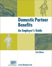 Cover of: Domestic partner benefits | Joseph S. Adams