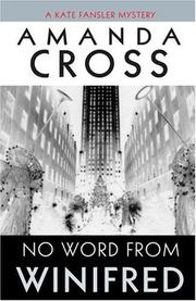 Cover of: No Word from Winifred | Amanda Cross