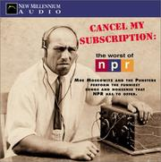Cover of: Cancel My Subscription | Moe Moskowitz