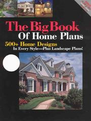 Cover of: Big Book of Home Plans