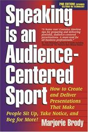 Cover of: Speaking is an Audience-Centered Sport