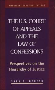 Cover of: U.S. Court of Appeals and the Law of Confessions | Sara Catherine Benesh