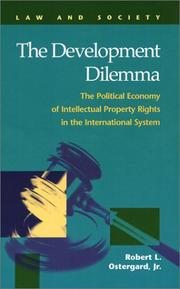 Cover of: The Development Dilemma |