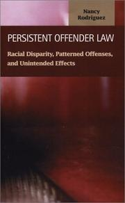 Cover of: Persistent Offender Law