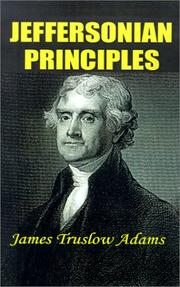 Cover of: Jeffersonian Principles