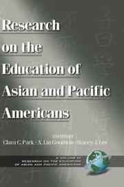 Cover of: Research on the Education of Asian and Pacific Americans | Clara C. Park