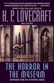 Cover of: HORROR IN THE MUSEUM