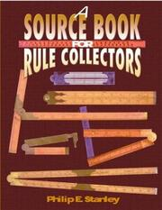 Cover of: A Source Book for Rule Collectors | Philip E. Stanley