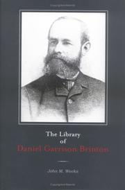 Cover of: The Library of Daniel Garrison Brinton | Andree Suplee