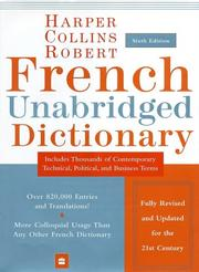 Cover of: HarperCollins Robert French Unabridged Dictionary, 6th Edition (Harpercollins Unabridged Dictionaries) | HarperCollins