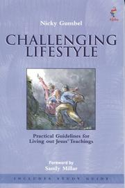 Cover of: Challenging Lifestyle Book with Study Guide (Challenging Lifestyle) |