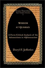 Cover of: Wisdom at Qumran | Daryl F. Jefferies