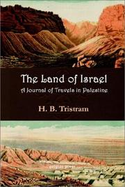 Cover of: The land of Israel
