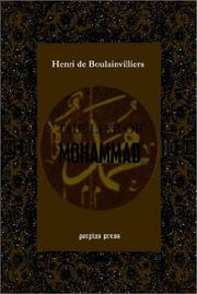 Cover of: The Life of Mohammad (or The Life of Mahomet) | Henri de Boulainvilliers