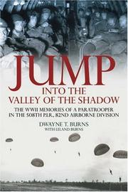 Cover of: JUMP: INTO THE VALLEY OF THE SHADOW | Leland Burns