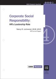 Cover of: Corporate Social Responsibility