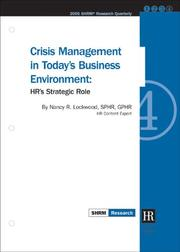 Cover of: Crisis Management in Today's Business Environment