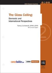 Cover of: The Glass Ceiling
