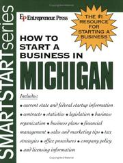 Cover of: How to Start a Business in Michigan (How to Start a Business in Michigan (Etrm)) | Entrepreneur Press