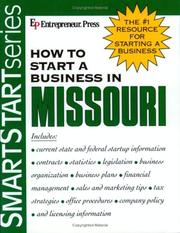 Cover of: How to start a business in Missouri |