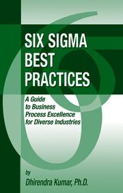 Cover of: Six Sigma Best Practices | Dhirendra, Ph..D. Kumar
