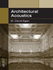 Cover of: Architectural Acoustics (J. Ross Publishing Classics) | M. David Egan