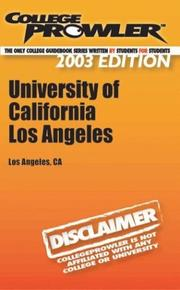 Cover of: College Prowler University of California - Los Angeles | Sarah Monson