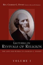 Cover of: Lectures on revivals of religion