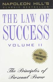 Cover of: The Law of Success, Volume II: The Principles of Personal Power