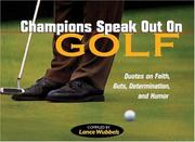 Cover of: Champions Speak Out on Golf | Lance Wubbles