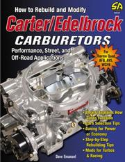 Cover of: How to rebuild and modify Carter/Edelbrock carburetors