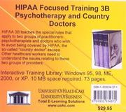 Cover of: HIPAA Focused Training 3B Psychotherapy and Country Doctors | Daniel Farb