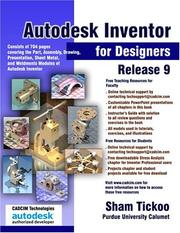 Cover of: Autodesk Inventor for Designers Release 9 | Sham Tickoo
