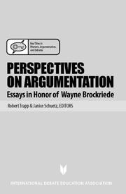 Cover of: Perspectives on Argumentation |