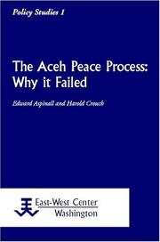 Cover of: Aceh peace process | Edward Aspinall