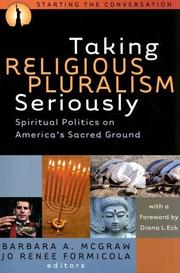 Cover of: Taking religious pluralism seriously