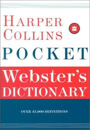 Cover of: HarperCollins Pocket Webster's Dictionary