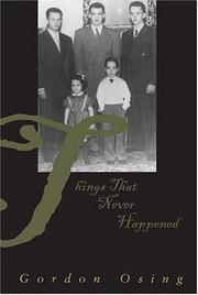 Cover of: Things that never happened