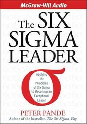 Cover of: The Six Sigma Leader